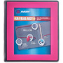 "Avery View Binder w/ Pockets, One Touch Ring, 1"" Cap., Pink"