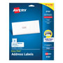 "Avery White Ink Jet Mailing Labels, 1""x2 5/8"", 750 per Pack"