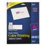 "Avery Matte White Ink Jet Labels, 1 1/3""x4"", 280 per Pack"
