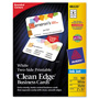 "Avery Clean Edge Inkjet Business Cards, White, Round Edge, 2""x3 1/2"""
