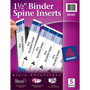 "Avery 1 1/2"" Binder Spine Inserts, White"