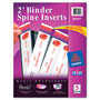 "Avery 2"" Binder Spine Inserts, White"