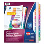 Avery Ready Index Table Of Contents Dividers, 10-Tab Set, Multicolor