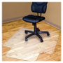"Advantus Recycled Chairmat w/Lip, Hardwood, 45"" x 53"", Transparent"