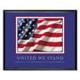 "Advantus Framed ""United We Stand"" Motivational Print, 30w x 24h, Black Frame"