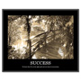 "Advantus ""Success"" Framed Sepia Tone Motivational Print, 30""w x 24""h"