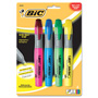 Bic Highlighter, Four Color Set, Fluorescent Colors