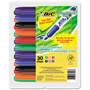 Bic Grip XL Dry Erase Whiteboard Markers, Chisel Tip, Assorted, 30/Pack