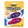 "Bic Micro Correction Film Two Pack, Blue & Orange, 1/5"" x 236"""