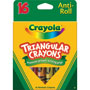 Binney and Smith Assorted Triangular Crayons