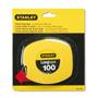 "Stanley Bostitch Long Tape Measure, 1/8"" Graduations, 100 ft., Yellow"
