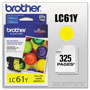 Brother LC61 Yellow Ink Cartridge, 500 Pages