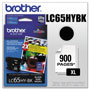 Brother LC65 Black High Yield Ink Cartridge, 900 Pages
