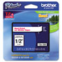 "Brother Laminated Tape Cartridge, For TZ Models, 1/2"", Red/White"