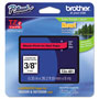 Brother TZe Standard Adhesive Laminated Labeling Tape, 3/8w, Black on Red
