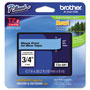 Brother TZe Standard Adhesive Laminated Labeling Tape, 3/4w, Black on Blue