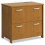Bush Envoy Series Two-Drawer Lateral File, 32w x 20d x 30-1/4h, Natural Cherry