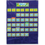Carson Dellosa Publishing Company Monthly Calendar 43-Pocket Chart with Day/Week Cards, Blue, 25 x 28 1/2