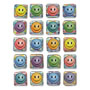 Chenille Kraft Creativity Street Peel and Stick Gemstone Stickers, Smiley Face, 20/Pack