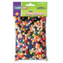 Chenille Kraft Pony Beads, Plastic, 6mm x 9mm, Assorted Colors, 1000 Beads/Pack