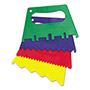 "Chenille Kraft Company Plastic Paint Scrapers, 5""W, Green/Blue/Red/Yellow, 4 Scrapers/Set"