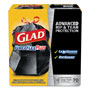 Glad Black Drawstring Trash Bags, 30 Gallon, 1.05 Mil, Box of 70