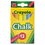 Crayola Chalk, Assorted Colors, 12 Sticks/Box