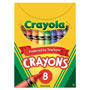 Crayola Classic Color Pack Crayons, Tuck Box, 8 Colors/Box