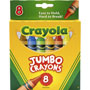 Crayola So Big Crayons, Large Size, 5 x 9/16, 8 Assorted Color Set