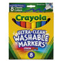 Crayola Washable Markers, Broad Point, Classic Colors