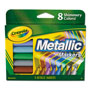 Crayola Metallic Markers, Assorted, 8/Set