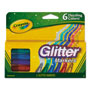 Crayola Glitter Markers, Assorted, 6/Set