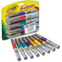 Crayola Dry Erase Markers, Bullet Tip, Low Odor, 8/PK, AST