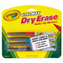 Crayola Dry Erase Markers, Bullet Tip, Low Odor, 4/PK, AST
