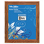 Dax Plastic Poster Frame, Traditional Clear Plastic Window, 16 x 20, Medium Oak