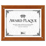 Dax Plaque-In-An-Instant Award Kit with 3 Certificates & 3 Mats, 10-1/2x13, Walnut