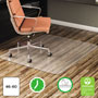 Deflecto EconoMat Vinyl Nonstudded, No Bevel Chair Mat for Bare Floor, 46 x 60, No Lip