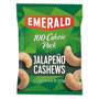 Emerald 100 Calorie Pack Nuts, Jalapeno Cashews, 0.62 oz Pack, 12/Box
