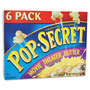 Diamond Microwave Popcorn, Movie Theater Butter, 3.5 oz Bags, 6 Bags/Box
