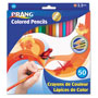 Prang Colored Woodcase Pencils, 3.3 mm, 50 Assorted Colors/Set