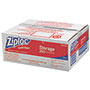 Ziploc® Double Zipper Bags, Plastic, 1gal, 1.75mil, Clear w/Write-On Panel, 250/Box