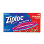 Ziploc® Double Zipper Storage Bags, Plastic, 1.75 mil, 1qt, Clear, 48/Box