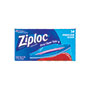 Ziploc® Double Zipper Freezer Bags, 6.97 x 7.7, 1 qt, 2.7 mil, 40/Box