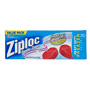 Ziploc® Double Zipper Freezer Bags, Plastic, 1 gal, 2.7 mil, Clear