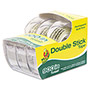"Manco Permanent Double-Stick Tape, 1/2"" x 300"", 1"" Core, Clear"