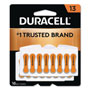 Duracell Button Cell Hearing Aid Battery #13, 16 per Pack