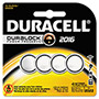 "Duracell Button Cell Lithium Battery #2016, 4"" per Pack"