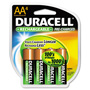 Duracell® Coppertop NiMH Pre-Charged Rechargeable Battery, AA, 4/Pack
