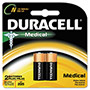 Duracell Coppertop Alkaline Medical Battery, N, 1.5V, 2/Pack