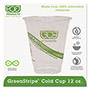 Eco-Products 12 Oz Cold Plastic Cups, Clear, Pack of 1000